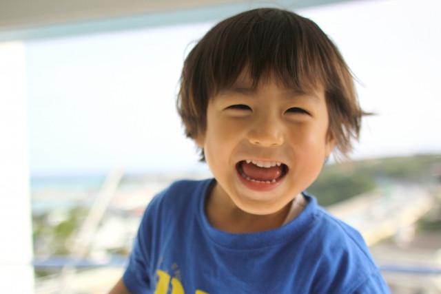 小児鍼で心身ともに調子が良い男の子